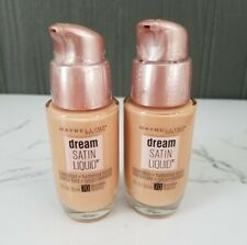 (2) NEW Maybelline Dream Satin Liquid Foundation Hydrating Serum #70 Pure Beige