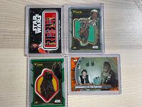2019-2020 STAR WARS HOLOCRON LOT(4) PATCH EWOK JAWA Refractor /99 Luke Skywalker