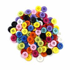 Marrón Plástico Botones de costura de resina redondo 4 agujeros 11mm Craft Supplies Q00411 15 un