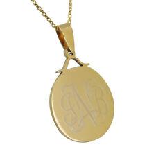Personalized Monogram Disc Necklace  Circle Monogram Necklace  Custom Engrave