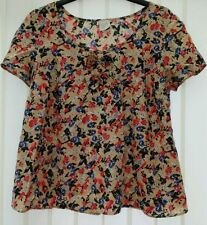 George Hip Length Short Sleeve Floral T-Shirts for Women