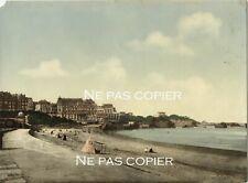 Biarritz la plage photochrome vers 1890-1900 Pyrénées-Atlantiques 64