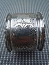 Rond de serviette argent massif décor guilloché époque 19ème