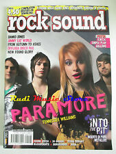rivista ROCK SOUND 118/2008 + POSTER Simple Plan/Gallows B.M.T.H.Paramore  No cd