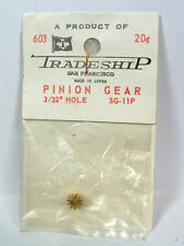 "Vintage Slot Car Part - #603 Tradeship Brass Pinion Gear , 11 Tooth  3/32"" Hole"
