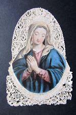 Santino merlettato canivet holly card VERGINE MARIA MADONNA originale raro