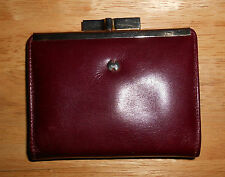 VINTAGE HALSTON WOMENS LEATHER WALLET MADE IN SPAIN - EUC