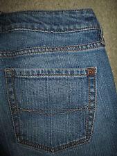 BULLHEAD Skinny Flare Stretch Medium Blue Denim Jeans Womens Size 1 R x 31.5