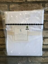 New Pottery Barn Kids Organic Full Size Pearl Dot Sheet Set Black Dot New