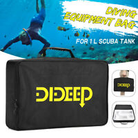 DIDEEP Oxygen Cylinder Tank Handbag 1L Scuba Diving Equipment Storage Accessory