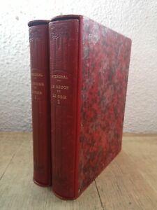 STENDHAL - LE ROUGE ET LE NOIR - 2 VOL - ILLUSTRÉ - VÉLIN - CLUB DU LIVRE 1947