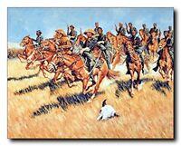 Western Union Cavalry Into Battle Wild West American Civil War Art Print (16x20)