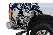 Custom Vinyl Decal Rear TIGER Wrap Kit for Dodge Ram 1500/2500 02-08 Matte Black