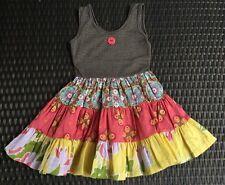 Matilda Jane PLATINUM Miss May Tank Dress Girls Size 2 Made in Peru Soft NWOT