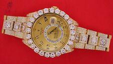 Rolex Sky-Dweller Yellow Gold 326938 Huge Bezel Fully Iced Out 35 Carat Diamonds