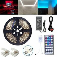 LED Tira Luces Para Sala De Estar Cocina Color Flexible Impermeable 16.4ft 5m 44
