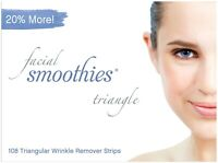 FACIAL SMOOTHIES TRIANGLE 108 Wrinkle Remover Strips/ Wrinkle Patches