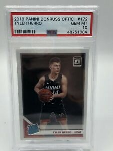 2019-20 Panini Optic Tyler Herro Base Rookie PSA 10 - Invest - WOW - Heat