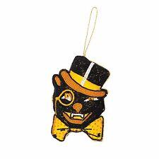 Beaded Classic Black Cat Halloween Ornament