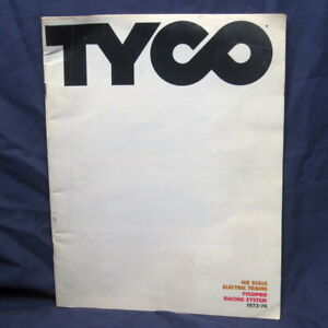 TYCO Dealer Catalog 1973 - 74 HO Scale Electric Trains TYCOPRO Racing Systems