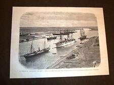 La nave Cristofero Colombo nel 1877 Imboccatura del Canale di Suez da Porto Said