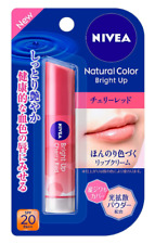 Nivea Natural Color Lip Bright Up Cherry Red Lip Balm Japan import NEW