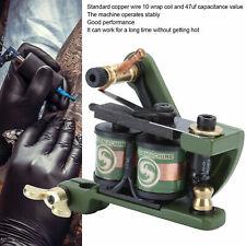 New Self-lock Tattoo Coil Machine Gun Liner Shader Cover Tips Beginner Tool Kits