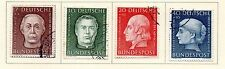 West Germany - 1954 Welfare Semi-Postal set of 4. Scott #B338-B341 USED