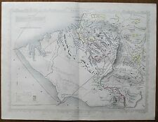 1855 Sebastopol Crimean War with Russia Genuine Antique Battle Map Rapkin