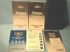 90 1990 Ford Tempo owners manual