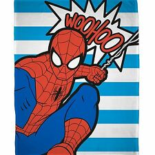 SPIDERMAN ABSTRACT FLEECE BLANKET KIDS CHILDRENS BOYS OFFICIAL MARVEL