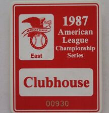 1987 American League Championship Series ALCS Detroit Tigers Clubhouse Pass 17E