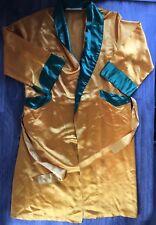 Boxing Robe Vtg 60s 70s Wilson Rare Fort Hood Sewn Satin Gold Texas Boxer M