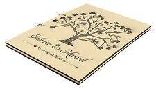 rustique Livre D'or de mariage en bois personnels personnalisé avec nom & DATE