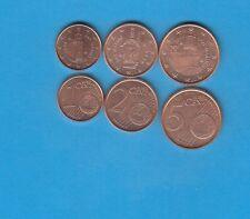 Série de 3 monnaies Saint- Marin 2006 1,2 & 5 Cts Monnaies provenant de rouleaux