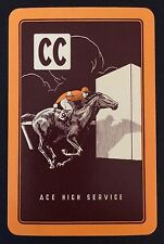 Vintage SWAP/PLAYING CARD - ADVERTISING RACEHORSE - CC ACE HIGH SERVICE - MINT