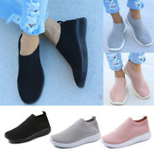 Womens Mesh Comfy Sock Shoes Ladies Slip On Gym Sport Running Sneakers Trainers