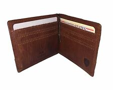 Spikes & Sparrow Maxwell BiFold Plus Money Clip RFID wallet in Brandy