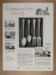 1929 Lunt Sterling Silver Early American Pattern vintage print Ad