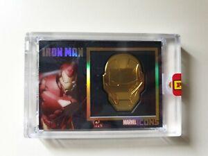 Card Marvel Black Gold Icons Collection IRON MAN Panini Sigillatas
