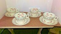 Vintage Set of 4 Cups & Saucers