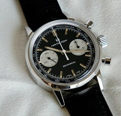2021 Hamilton Intra-Matic Chronograph H Black Dial Mens Watch - Extras!