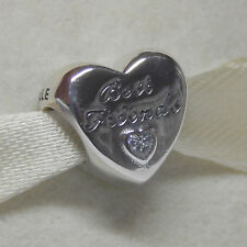 New Authentic Pandora Charm 791727CZ Friendship Heart Bead Box Included