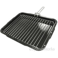 Indesit Premium Vitreous Enamel Grill Pan & Detachable Slide Handle 385X300mm