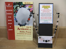 "LOSE A STONE 18"" Esoteric Gemstone Necklace plus Matching Power Bracelet & book."