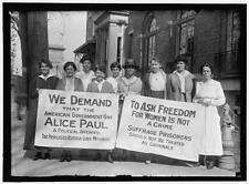 Woman Suffrage,Women's Rights,Suffrage Prisoners,Alice Paul,1917,Right to Vote