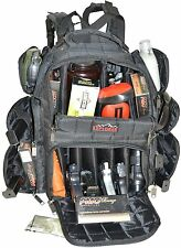Range Bag with Large Padded Deluxe Tactical Divider and 9 Clip Mag Holder-Black
