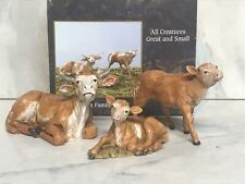 """Roman Fontanini 5"""" Collection Ox Family, Set of 3 (51534) With Collectors Box"""