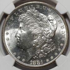1881 S UNITED STATES SAN FRANCISCO UNCIRCULATED SILVER MORGAN DOLLAR MS65 COIN