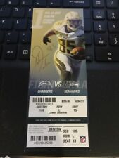 2017 LOS ANGELES CHARGERS VS SEATTLE SEAHAWKS 1st Game TICKET STUB 8/13